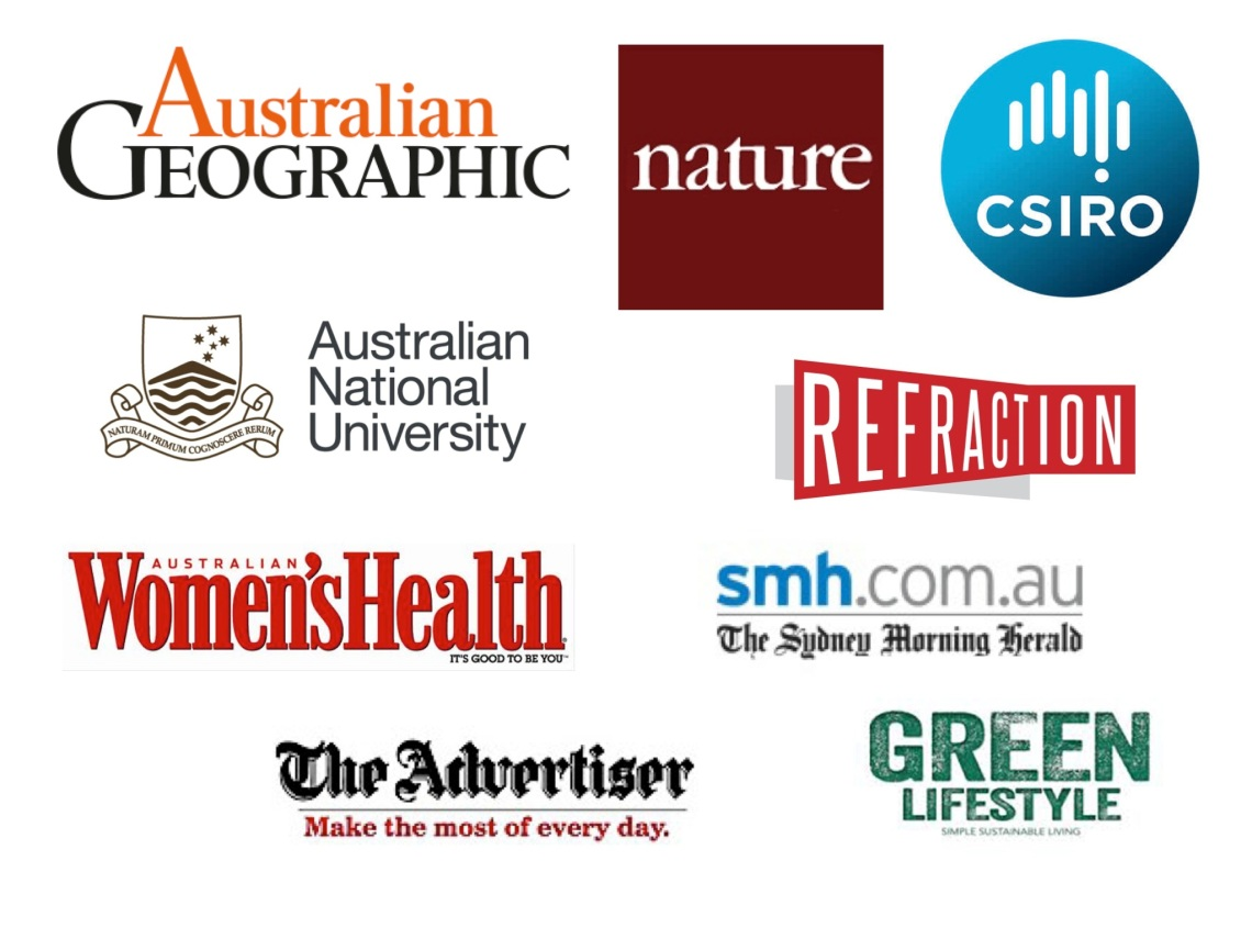 Logos of publications I have worked for